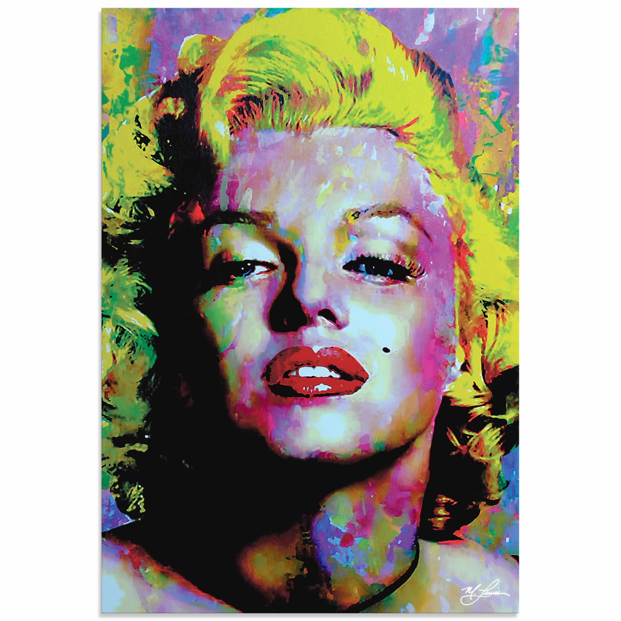 Marilyn Monroe Relinquished Beauty | Pop Art Painting by Mark Lewis, Signed & Numbered Limited Edition