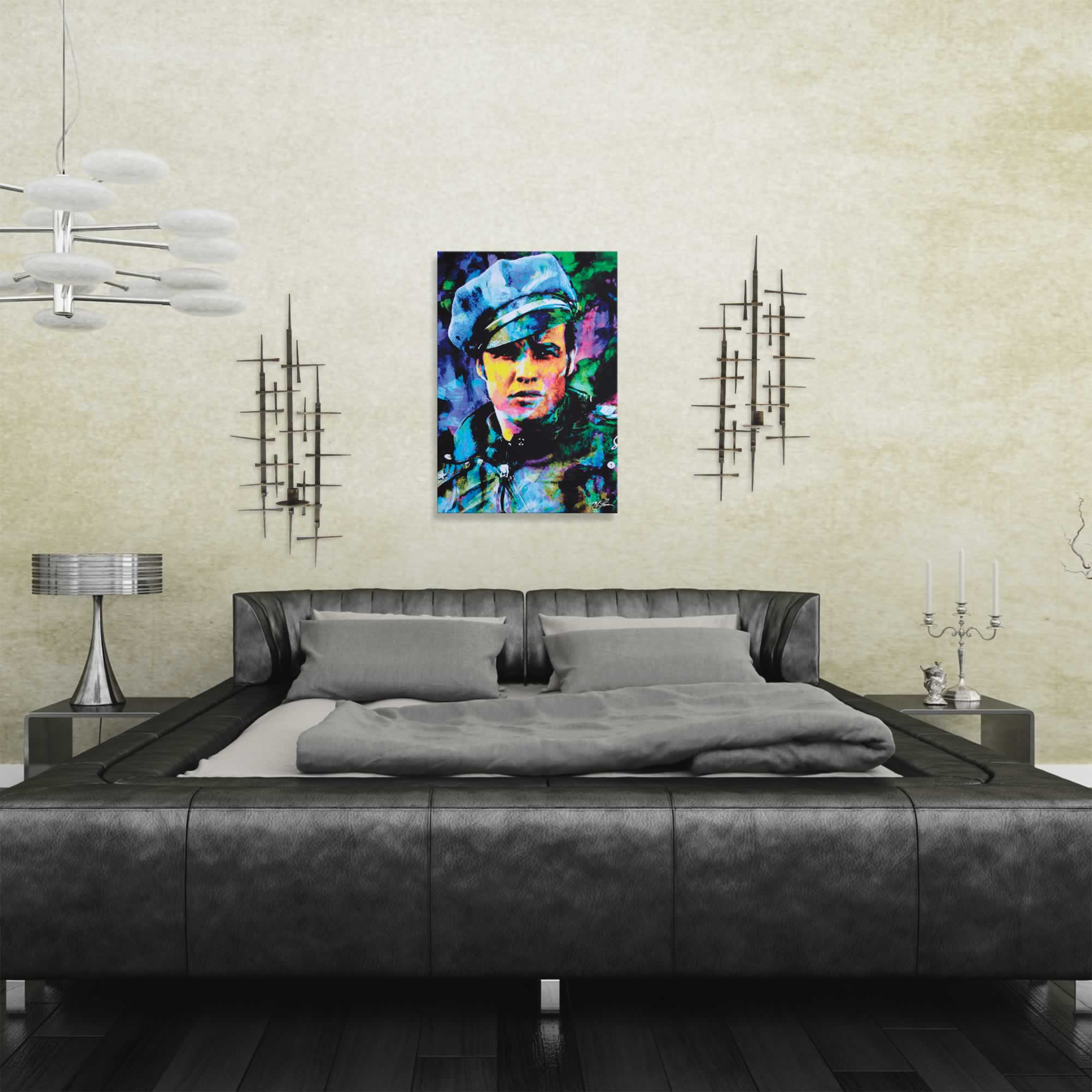 Marlon Brando Whadda Ya Got | Pop Art Painting by Mark Lewis, Signed & Numbered Limited Edition - ML0027