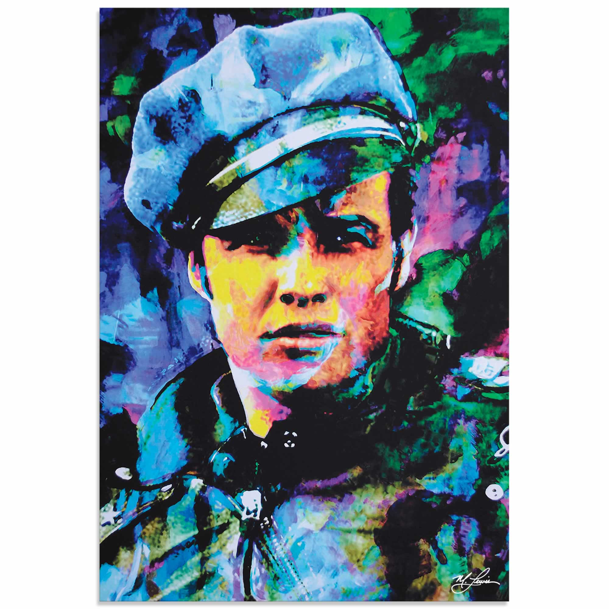 Marlon Brando Whadda Ya Got | Pop Art Painting by Mark Lewis, Signed & Numbered Limited Edition