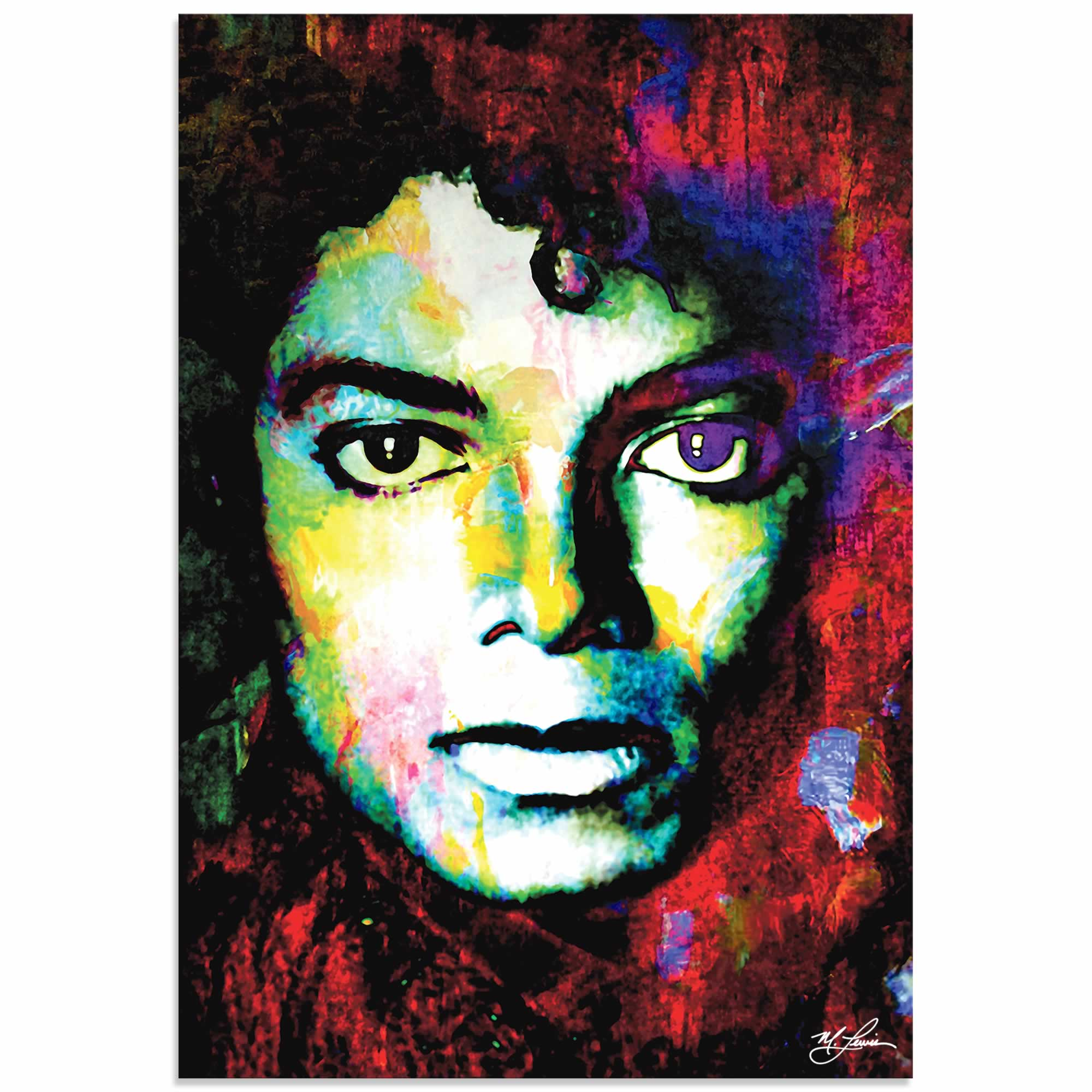 Michael Jackson Study 1 by Mark Lewis - Celebrity Pop Art on Metal or Plexiglass
