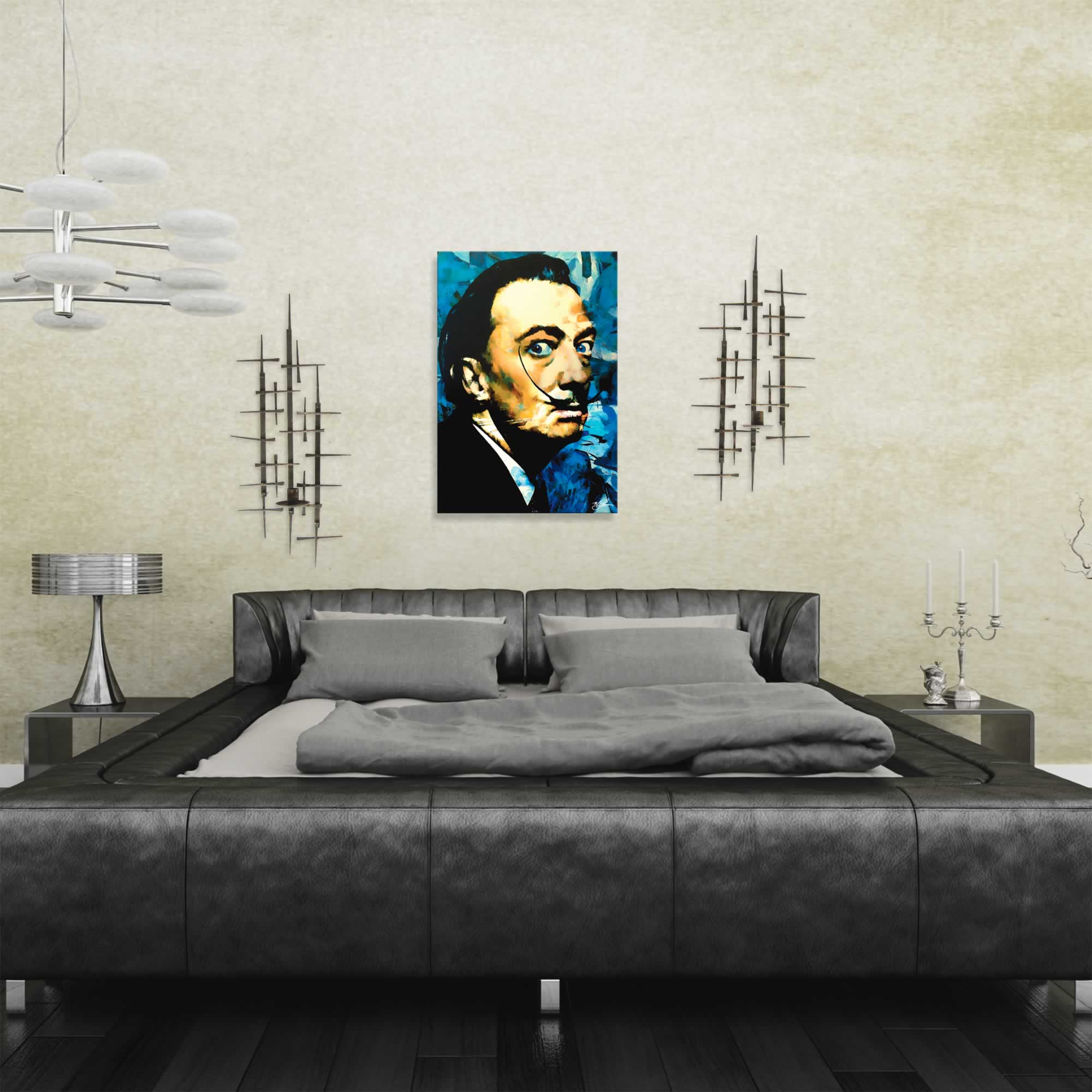 Salvador Dali Apparatus Man | Pop Art Painting by Mark Lewis, Signed & Numbered Limited Edition - ML0035