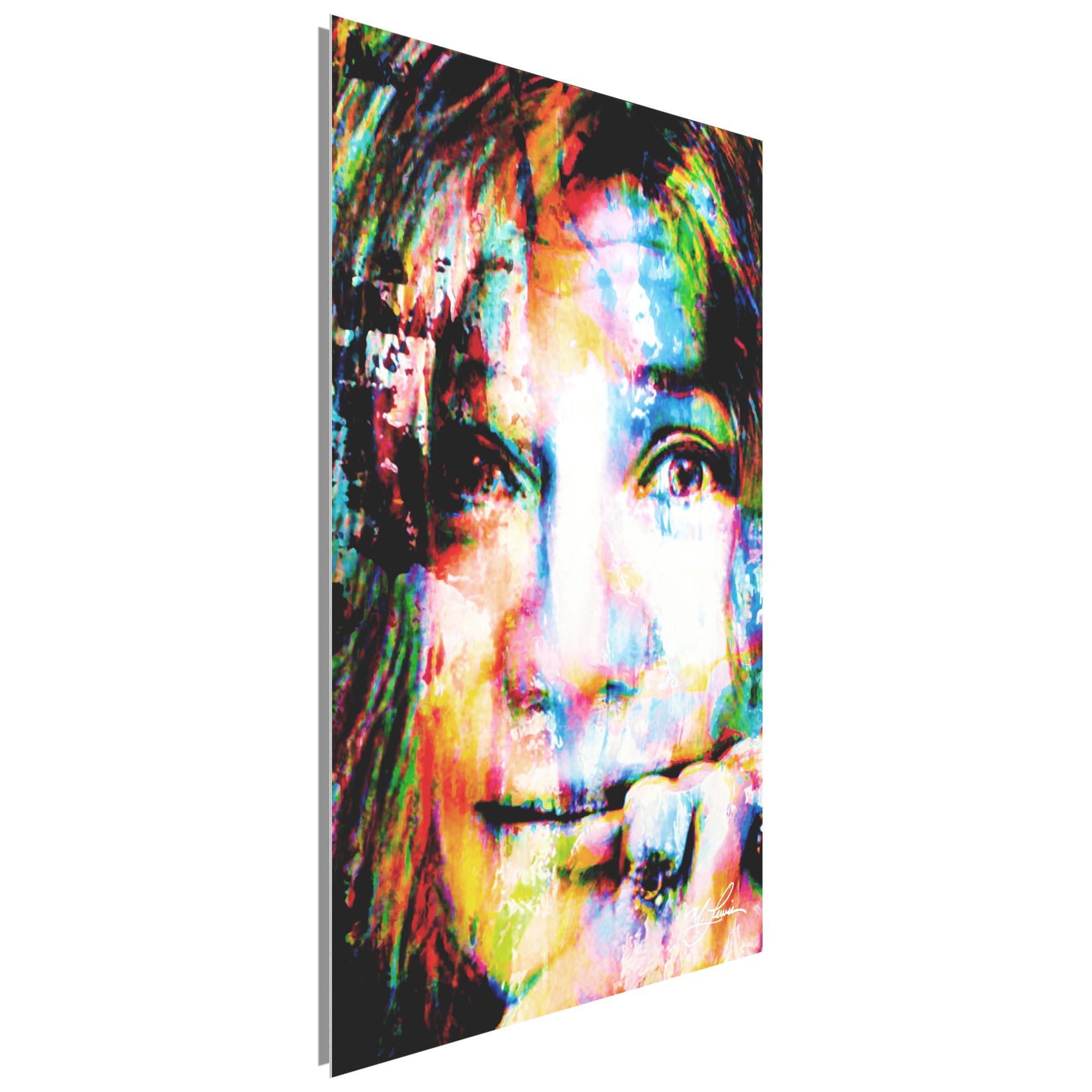 Janis Joplin Declaration of Soul by Mark Lewis - Celebrity Pop Art on Metal or Plexiglass - ML0038