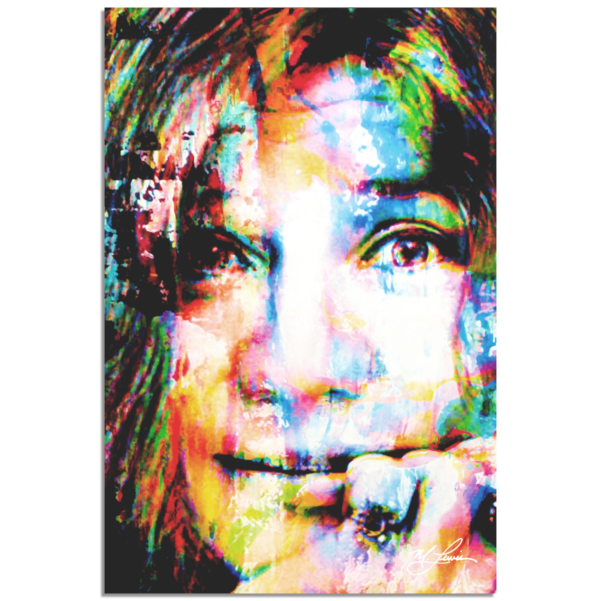 Janis Joplin Declaration of Soul by Mark Lewis - Celebrity Pop Art on Metal or Plexiglass