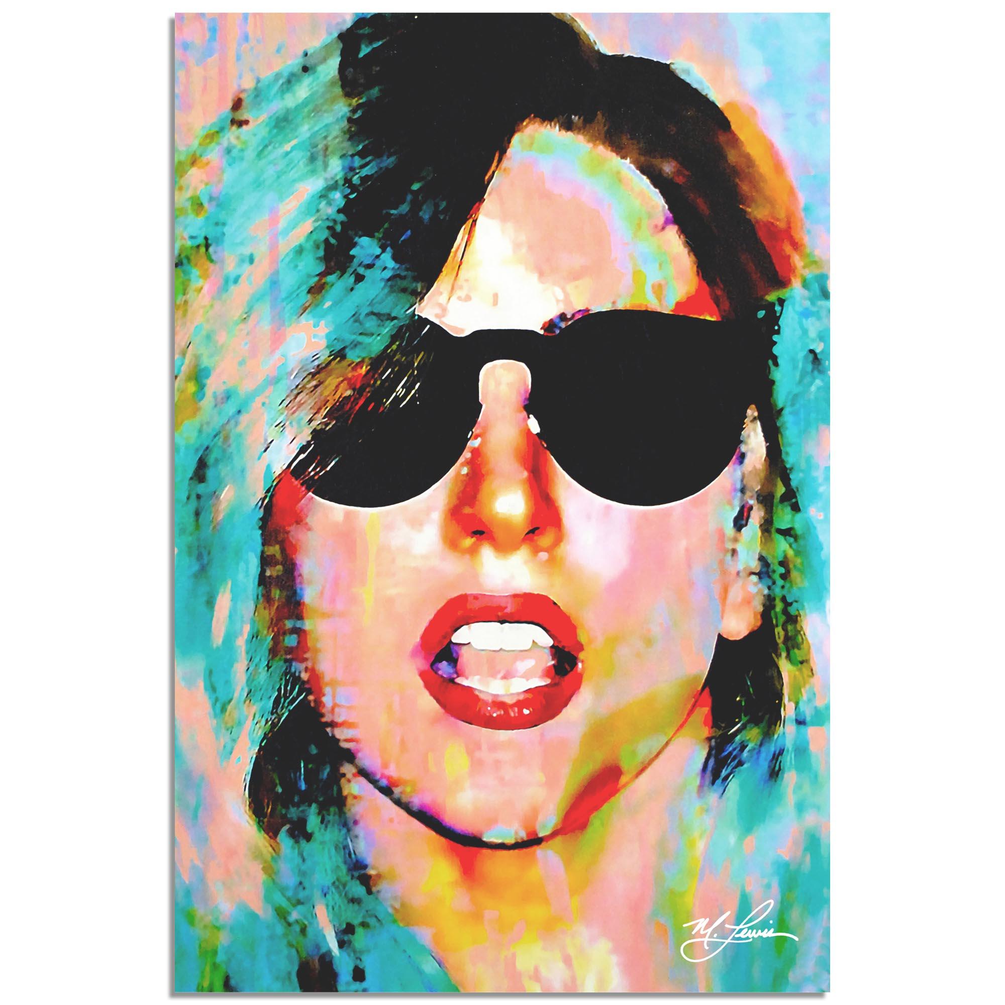 Mark Lewis 'Lady Gaga Everyday Art' 22in x 32in Celebrity Pop Art on Metal or Plexiglass