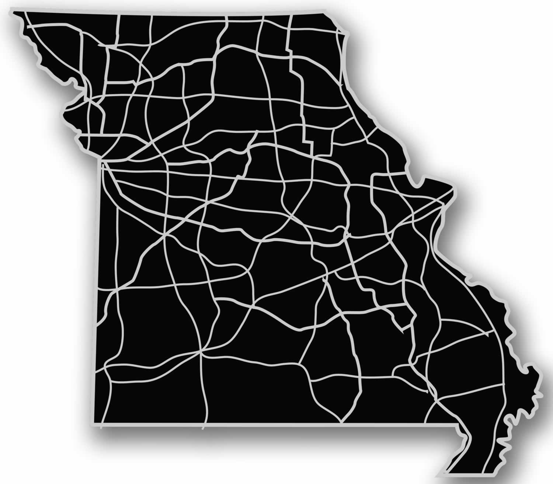 Modern Crowd Inc - Missouri - Acrylic Cutout State Map #MO-BK