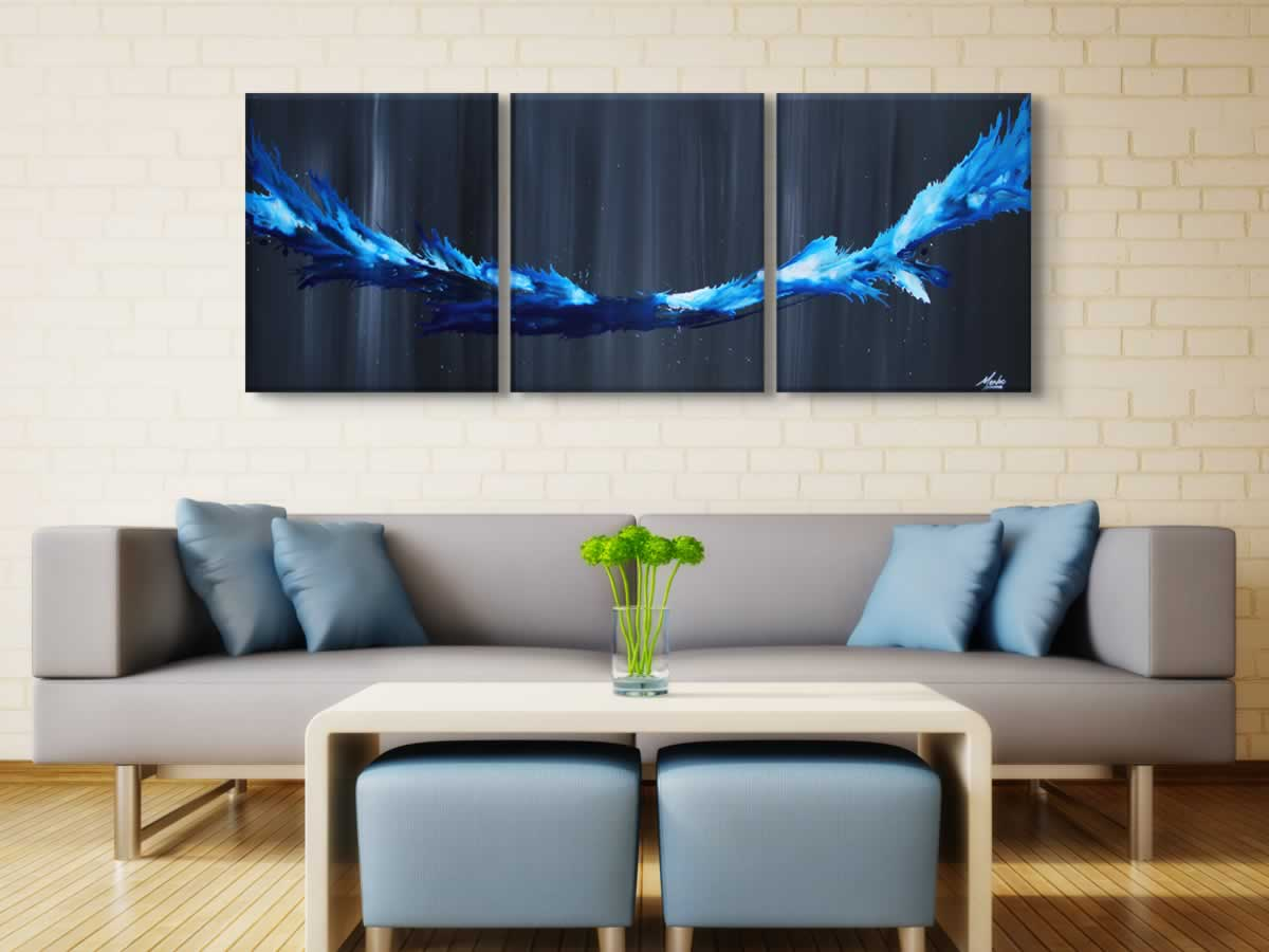 Blue Splash  - Original Canvas Art - Lifestyle Image