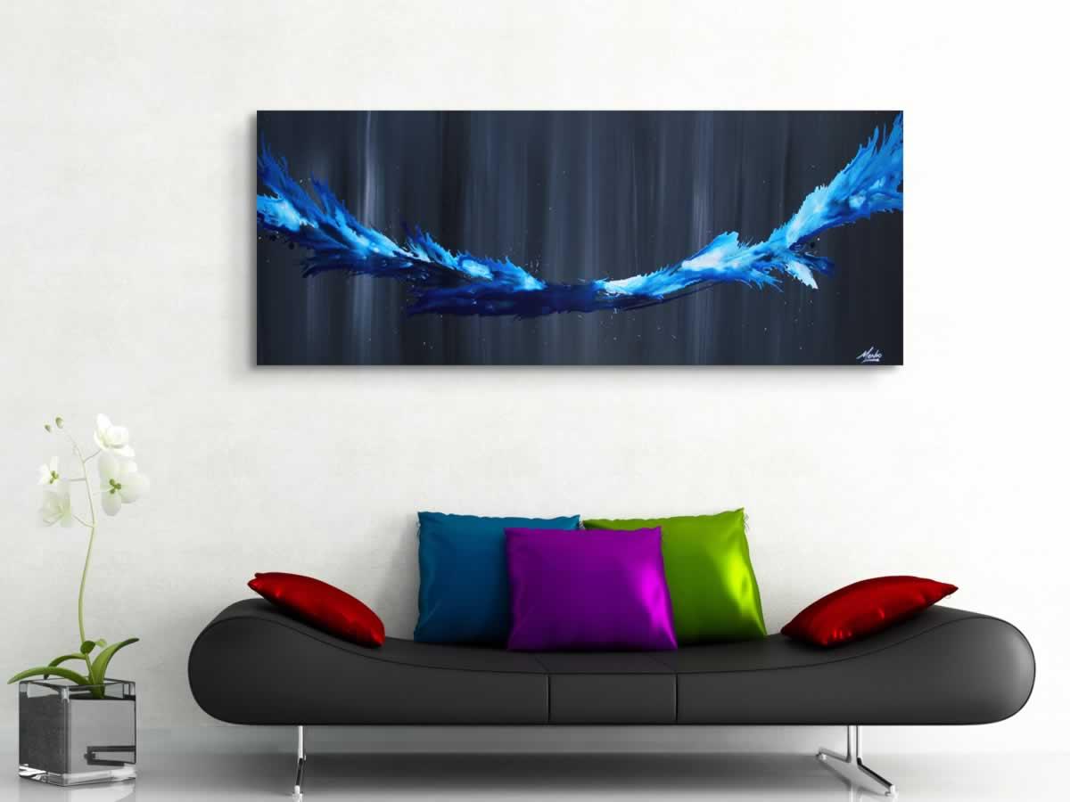 Blue Splash  - Original Canvas Art - Alternate Image