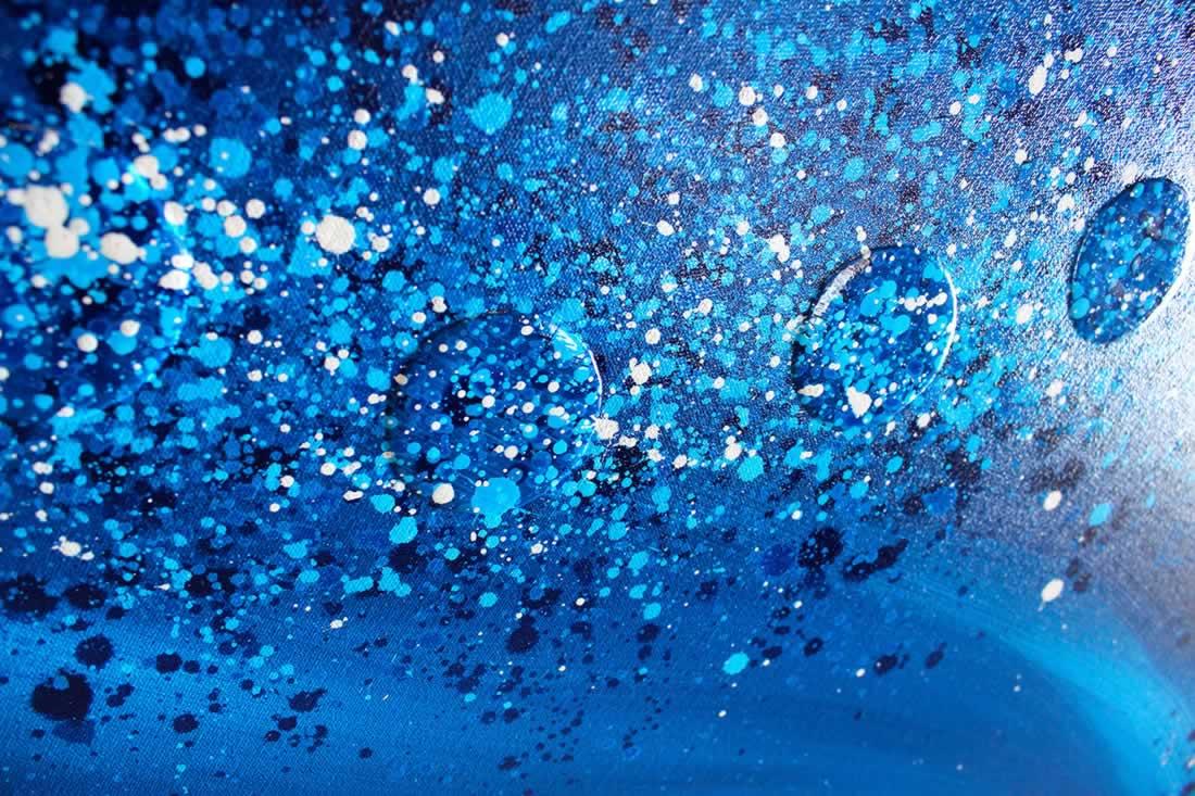 Blue Wave  - Original Canvas Art - Alternate Image