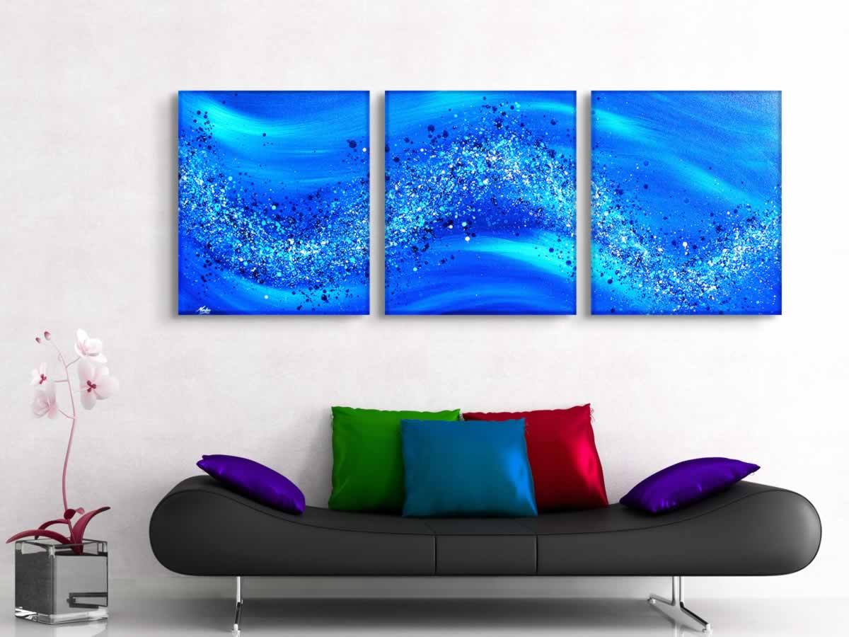 Blue Wave  - Original Canvas Art - Lifestyle Image
