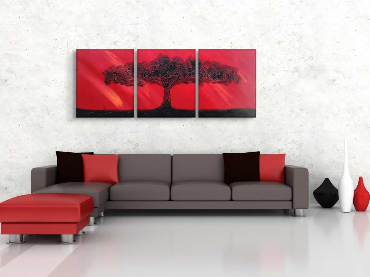 Fire Sky  - Original Canvas Art - Lifestyle Image