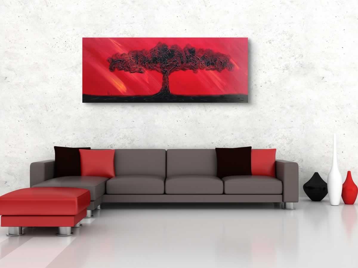 Fire Sky  - Original Canvas Art - Alternate Image
