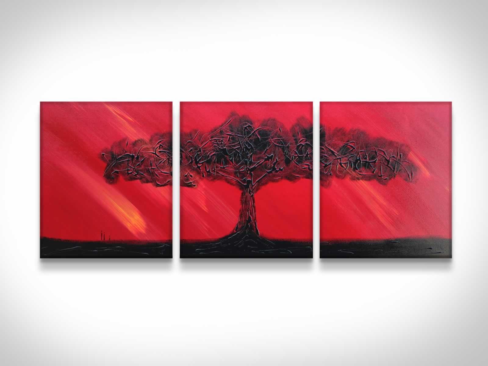 Fire Sky  - Original Canvas Art
