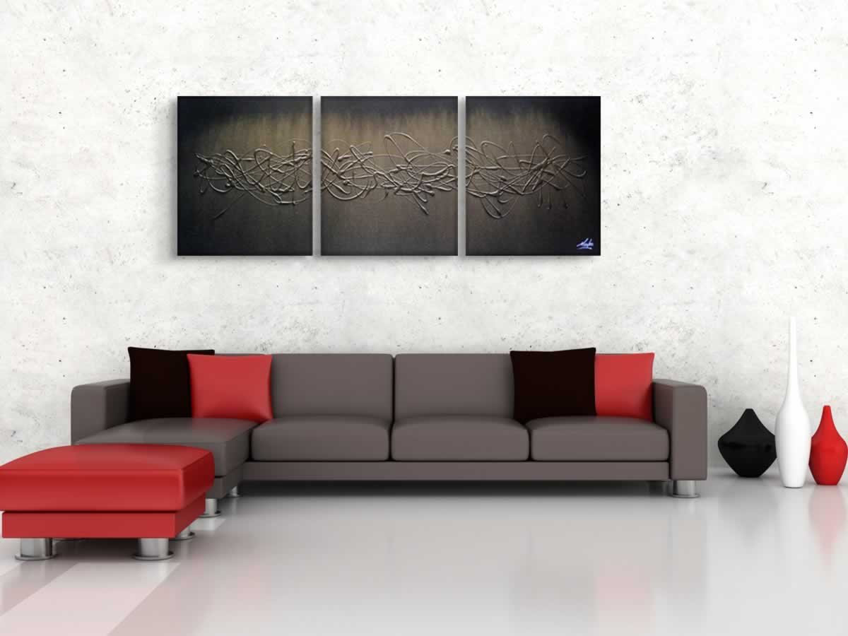 Golden Lightning  - Original Canvas Art - Lifestyle Image
