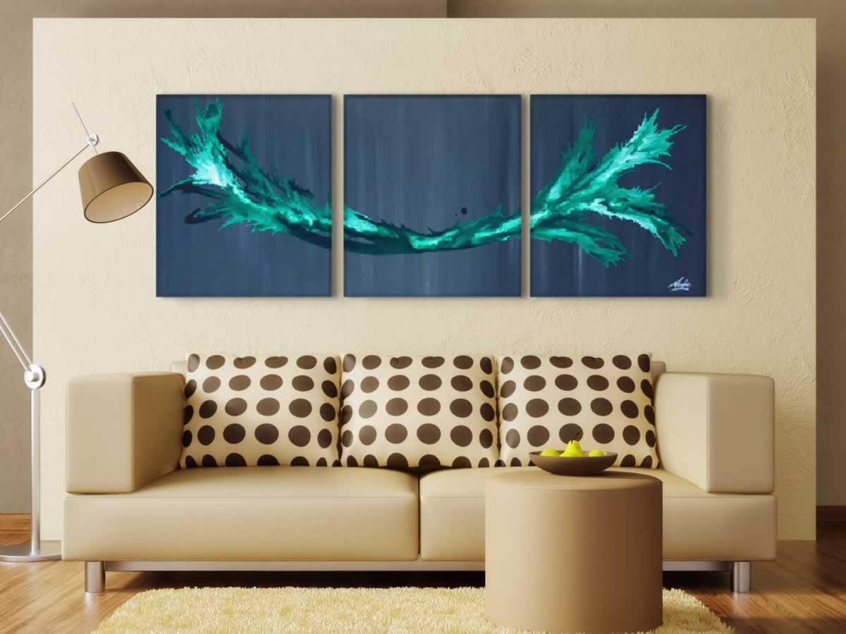 Green Splash  - Original Canvas Art - Lifestyle Image