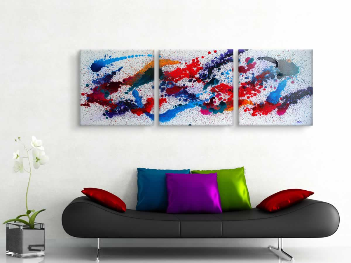 Moving Colours  - Original Canvas Art - Lifestyle Image