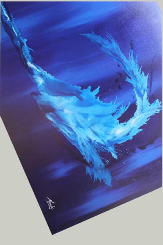 Blue Tidal Wave  - Original Canvas Art - Alternate Image
