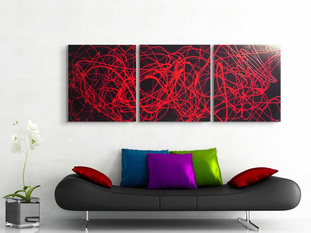 Red Spin  - Original Canvas Art - Lifestyle Image