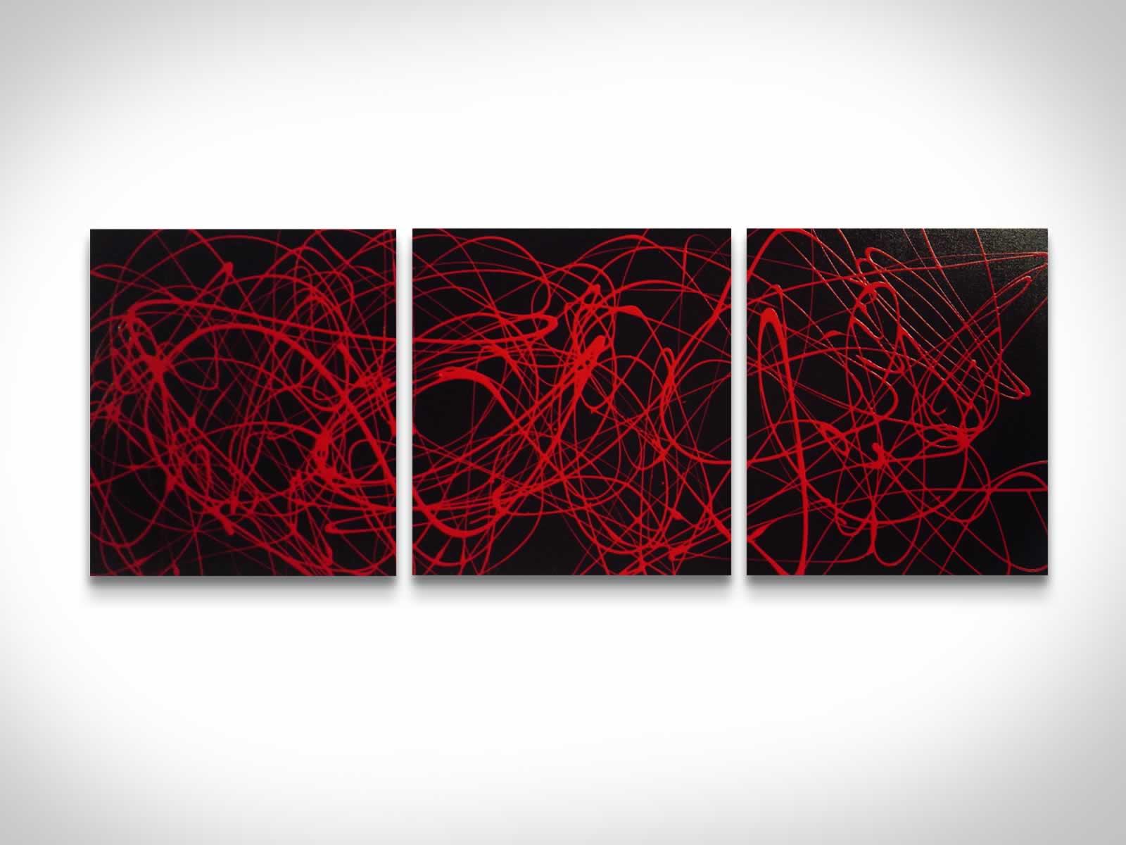 Red Spin  - Original Canvas Art