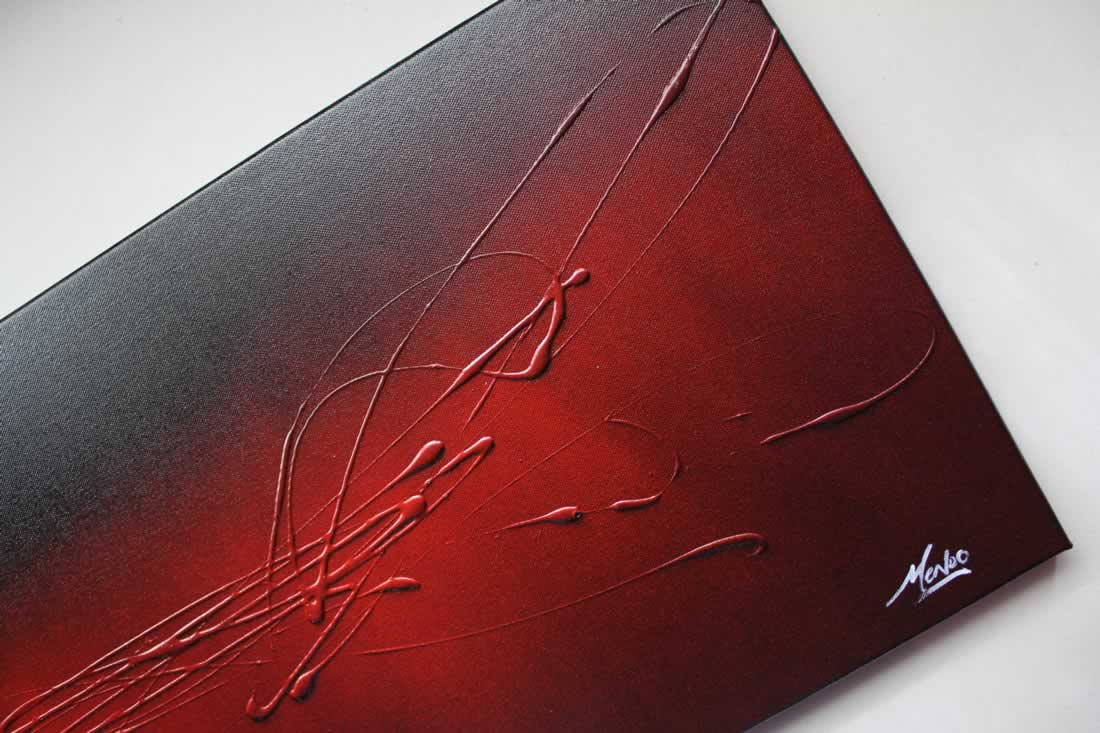 The Red Touch  - Original Canvas Art - Alternate Image
