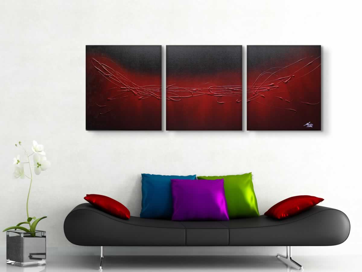 The Red Touch  - Original Canvas Art - Lifestyle Image