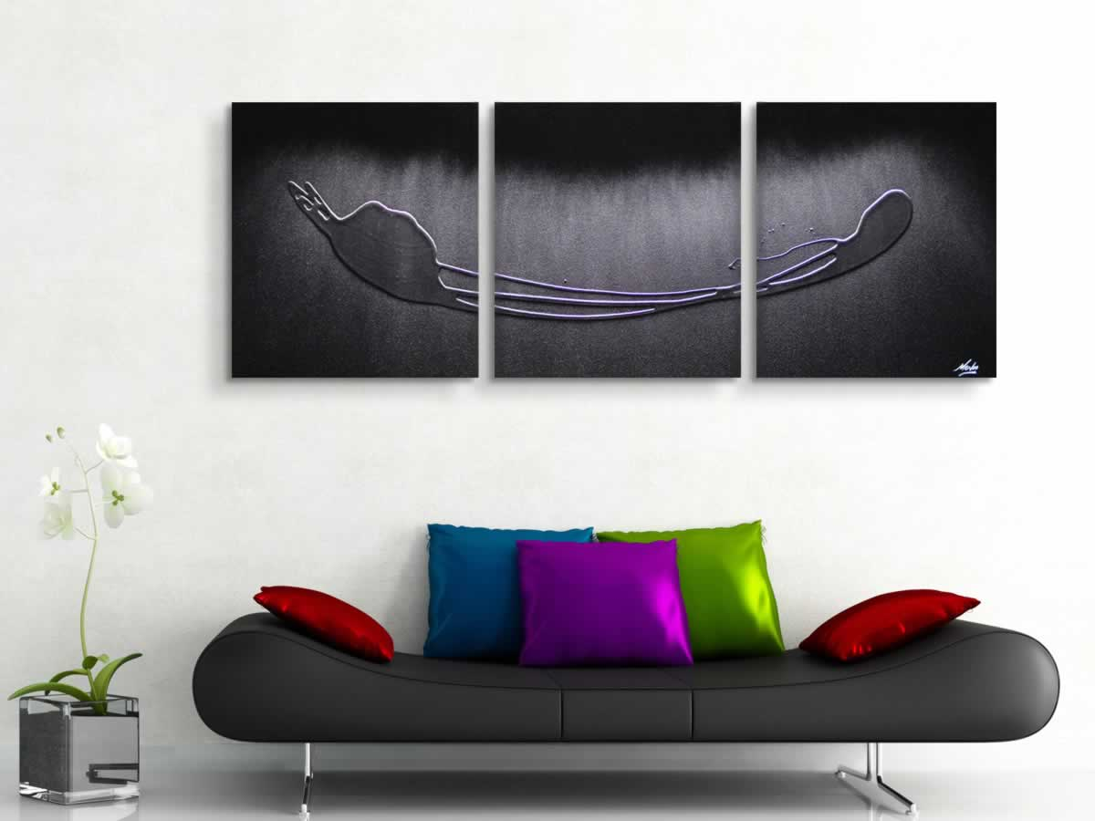 Silver Drop  - Original Canvas Art - Lifestyle Image