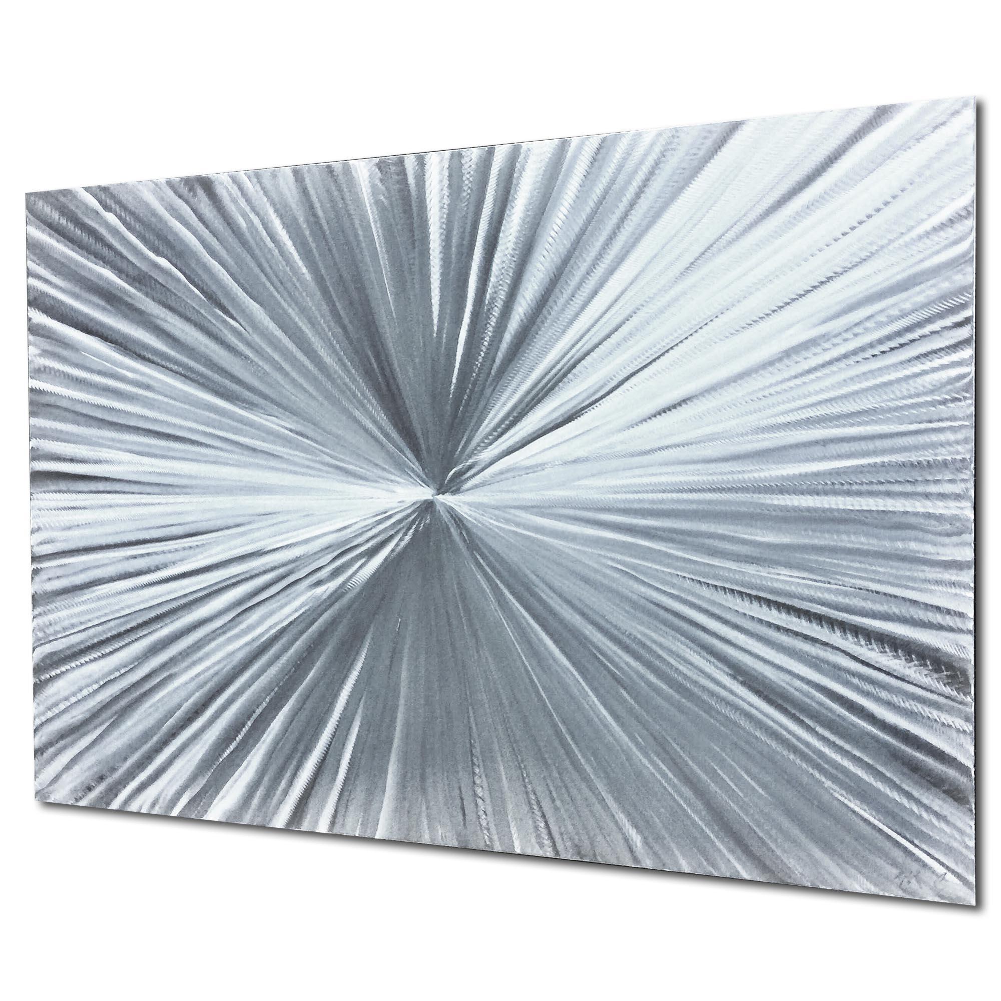 Bursting by Helena Martin - Sunburst Metal Art on Natural Aluminum - Image 2
