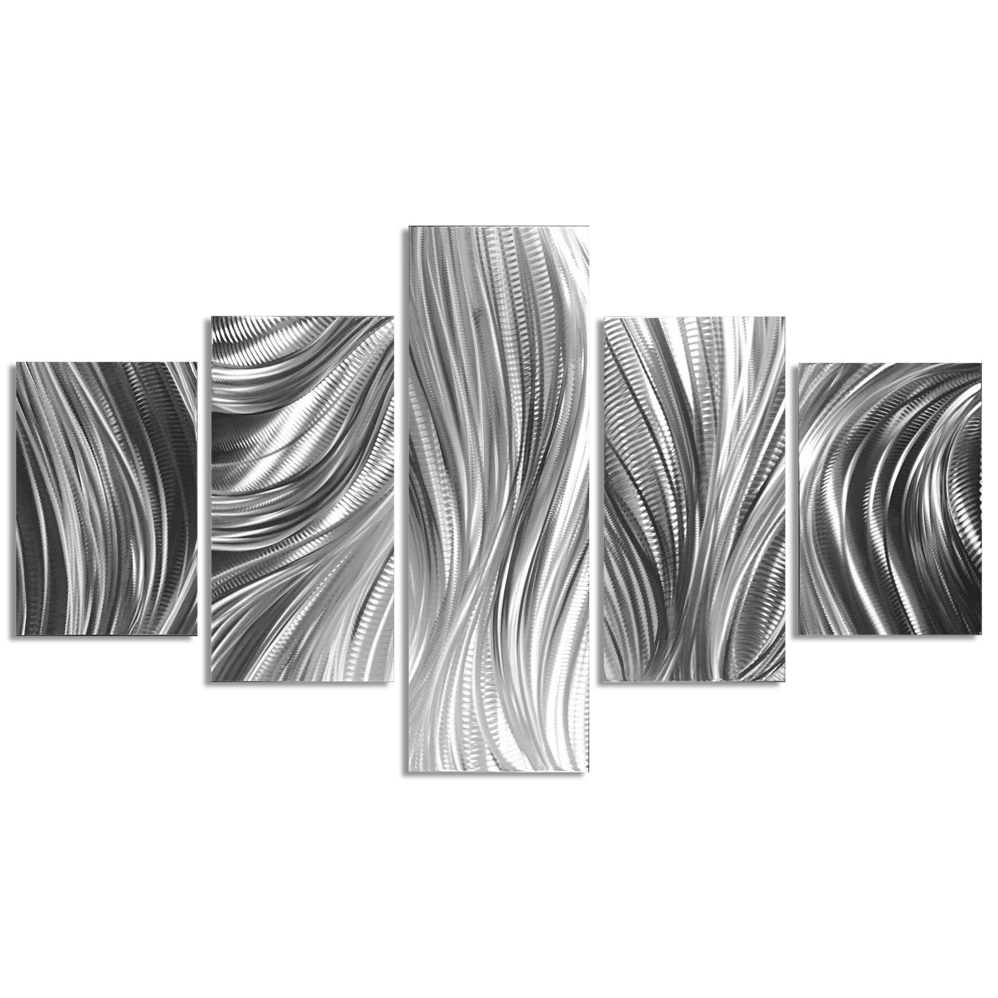 Columnar Plumage 64x36in. Natural Aluminum Abstract Decor