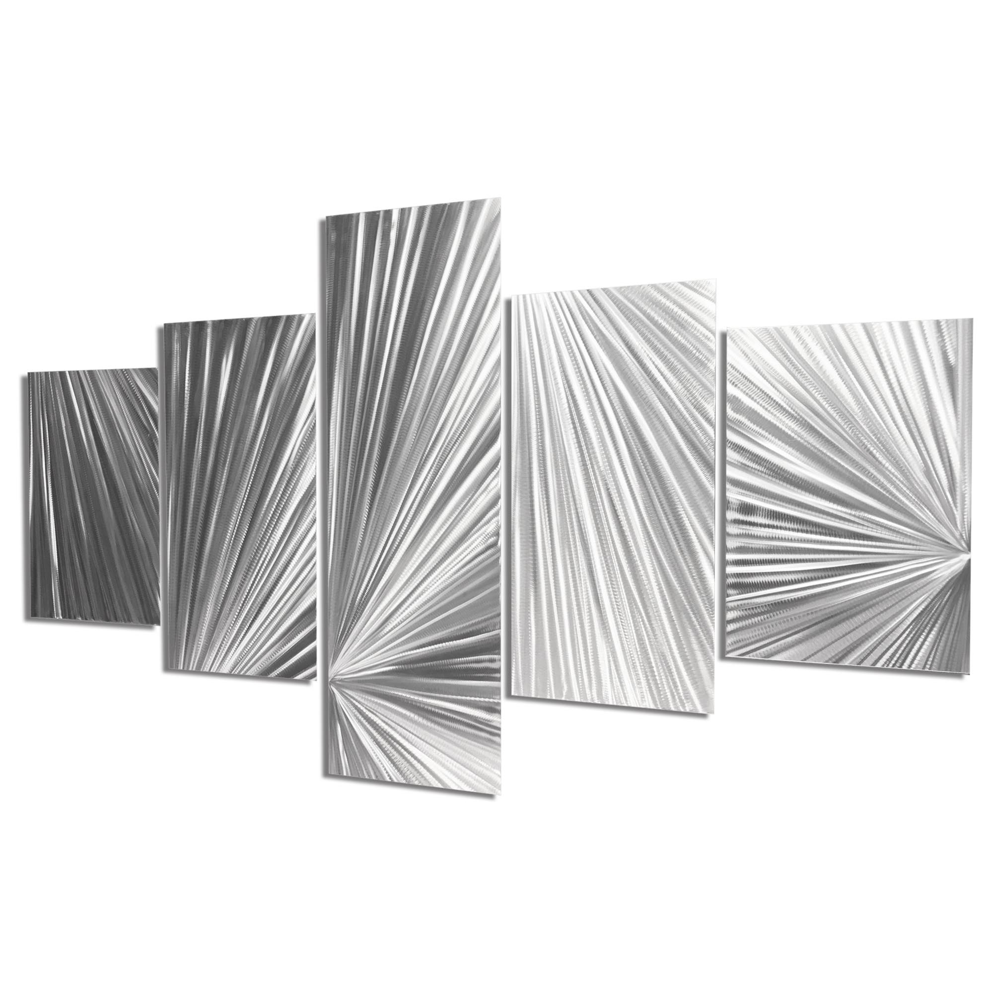 Columnar Light 64x36in. Natural Aluminum Abstract Decor - Image 2
