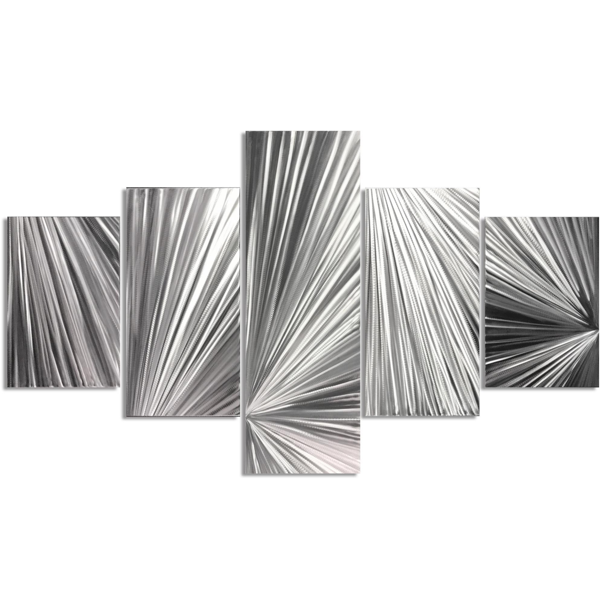 Columnar Light 64x36in. Natural Aluminum Abstract Decor