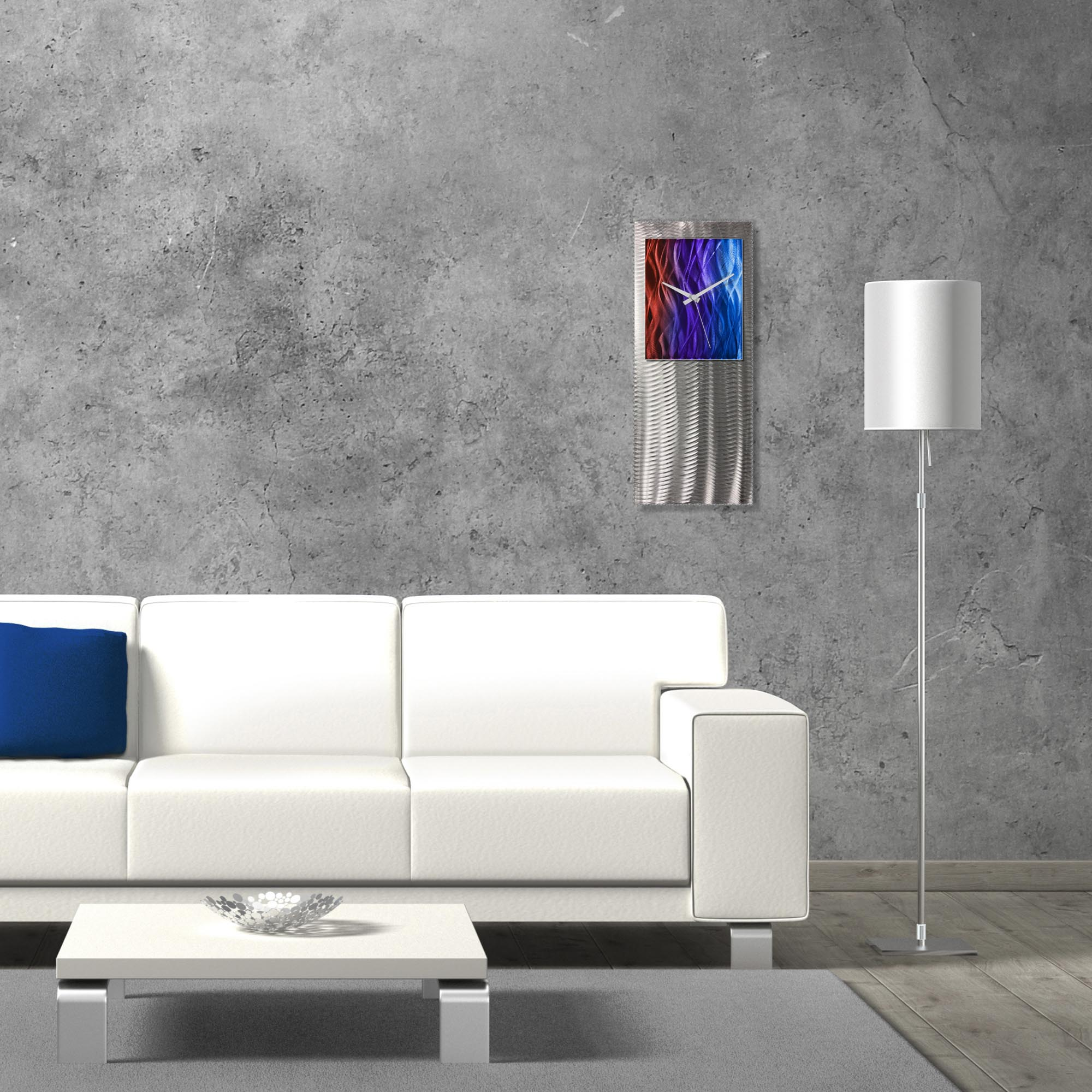 Metal Art Studio Abstract Decor Sunset Studio Clock 10in x 24in - Lifestyle View