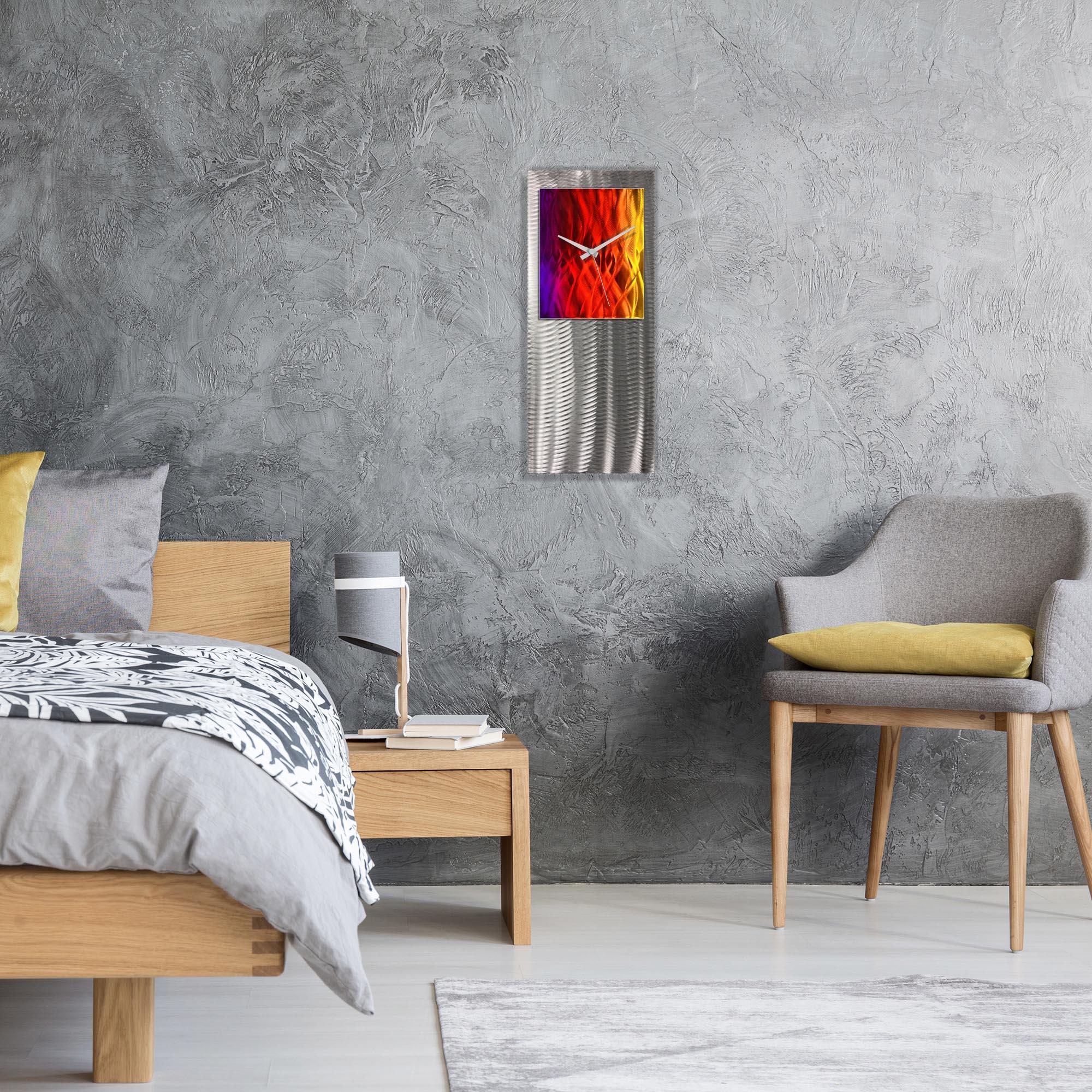 Metal Art Studio Abstract Decor Sunrise Studio Clock 10in x 24in - Lifestyle View