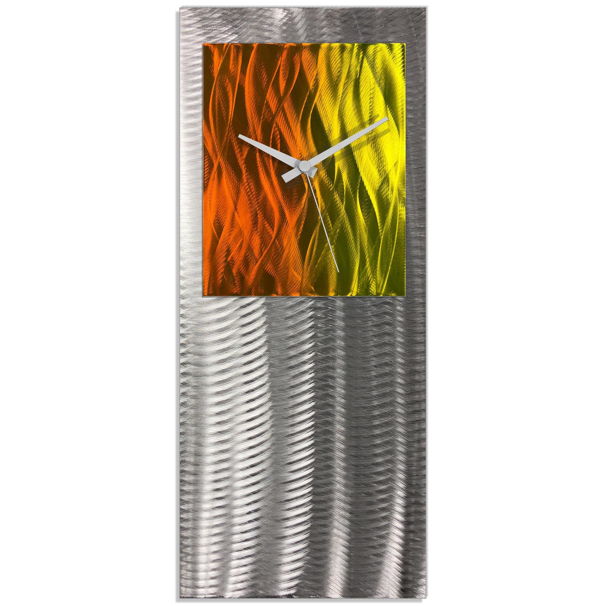 Metal Art Studio Abstract Decor Warm Studio Clock 10in x 24in