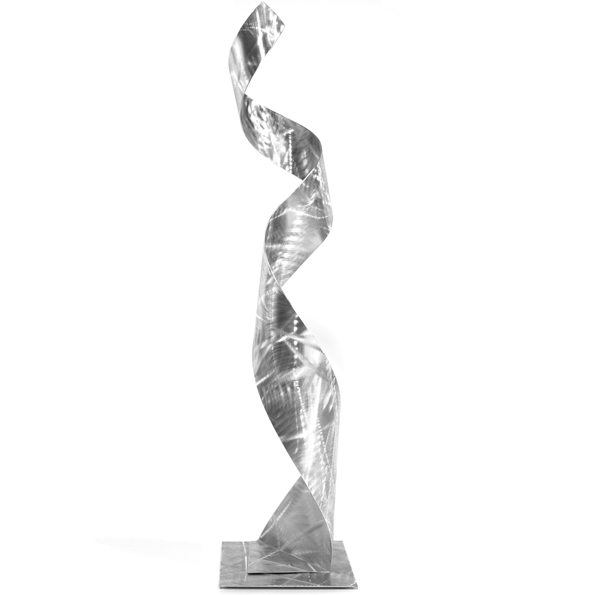 Helena Martin 'The Silhouette Sculpture' 9in x 36in Modern Metal Art on Ground Metal