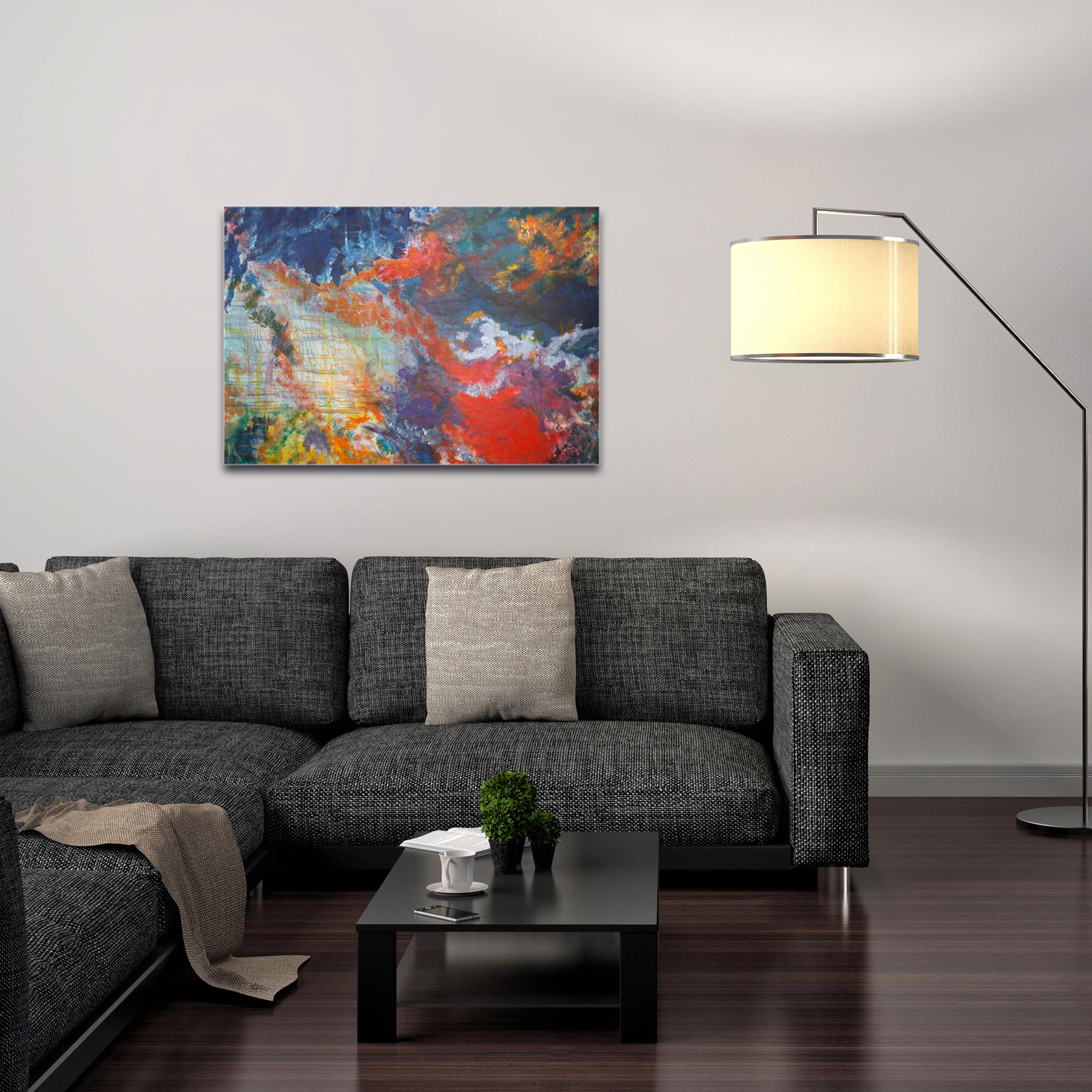 Abstract Wall Art 'Clouds of Color' - Urban Decor on Metal or Plexiglass - Image 3