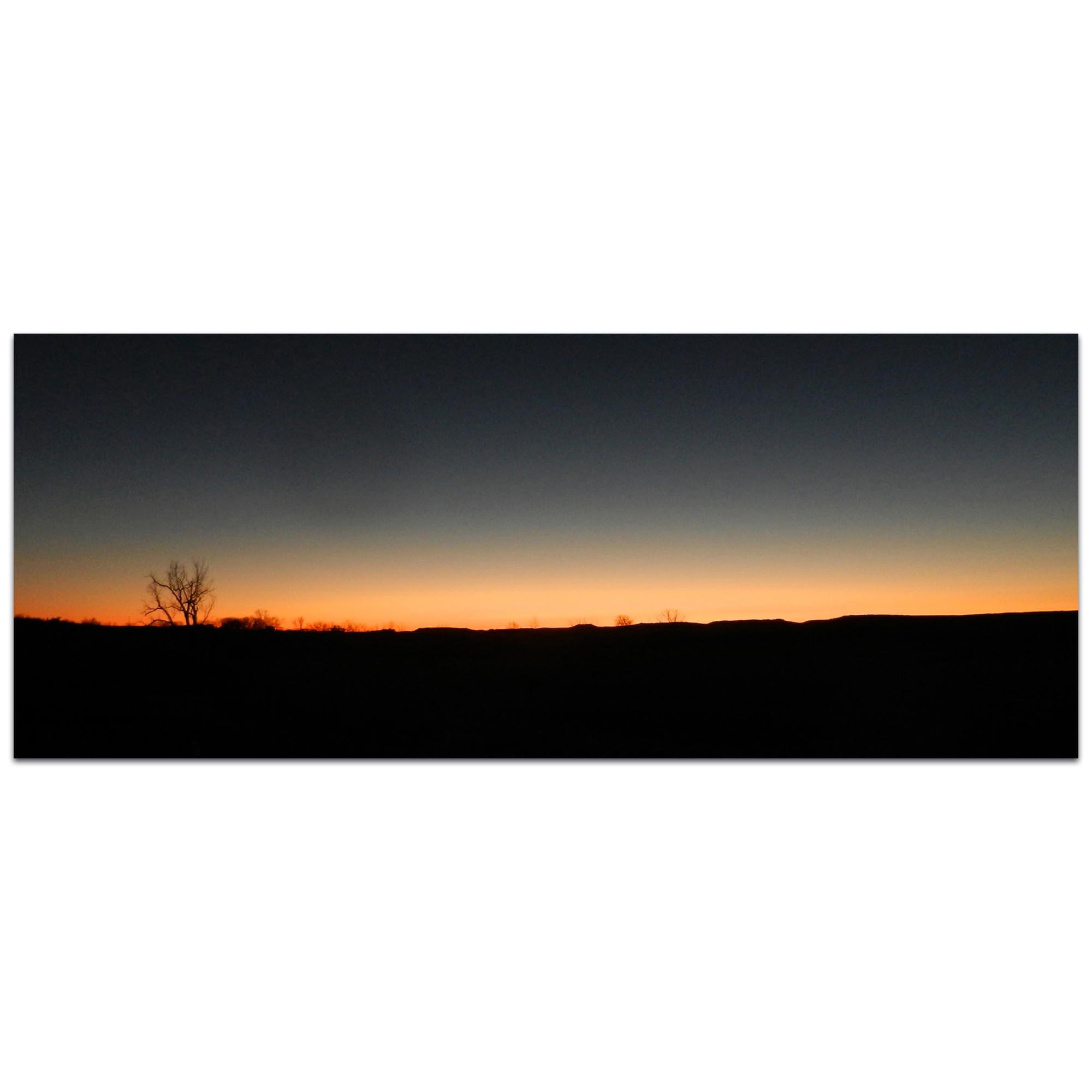 Western Wall Art 'Desert Sunset' - American West Decor on Metal or Plexiglass