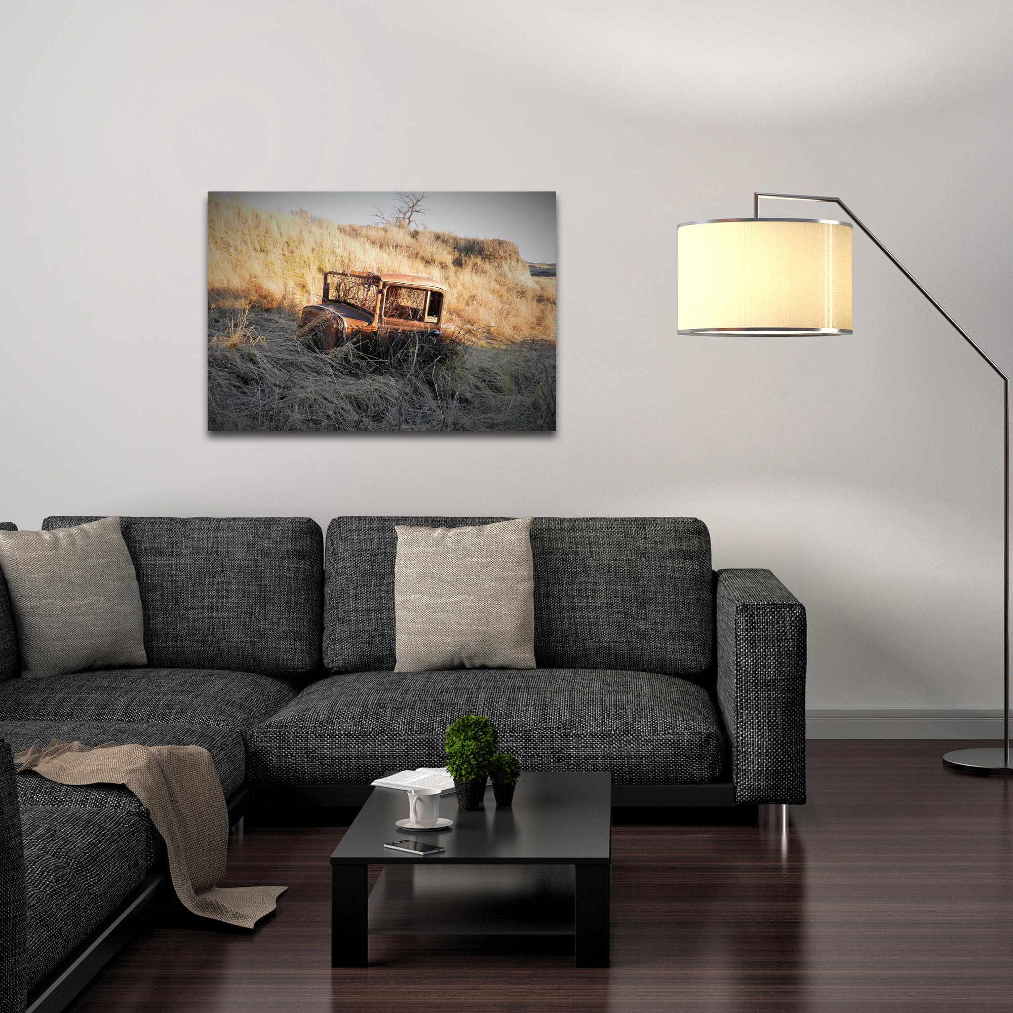 Western Wall Art 'The Passage' - American West Decor on Metal or Plexiglass - Lifestyle View