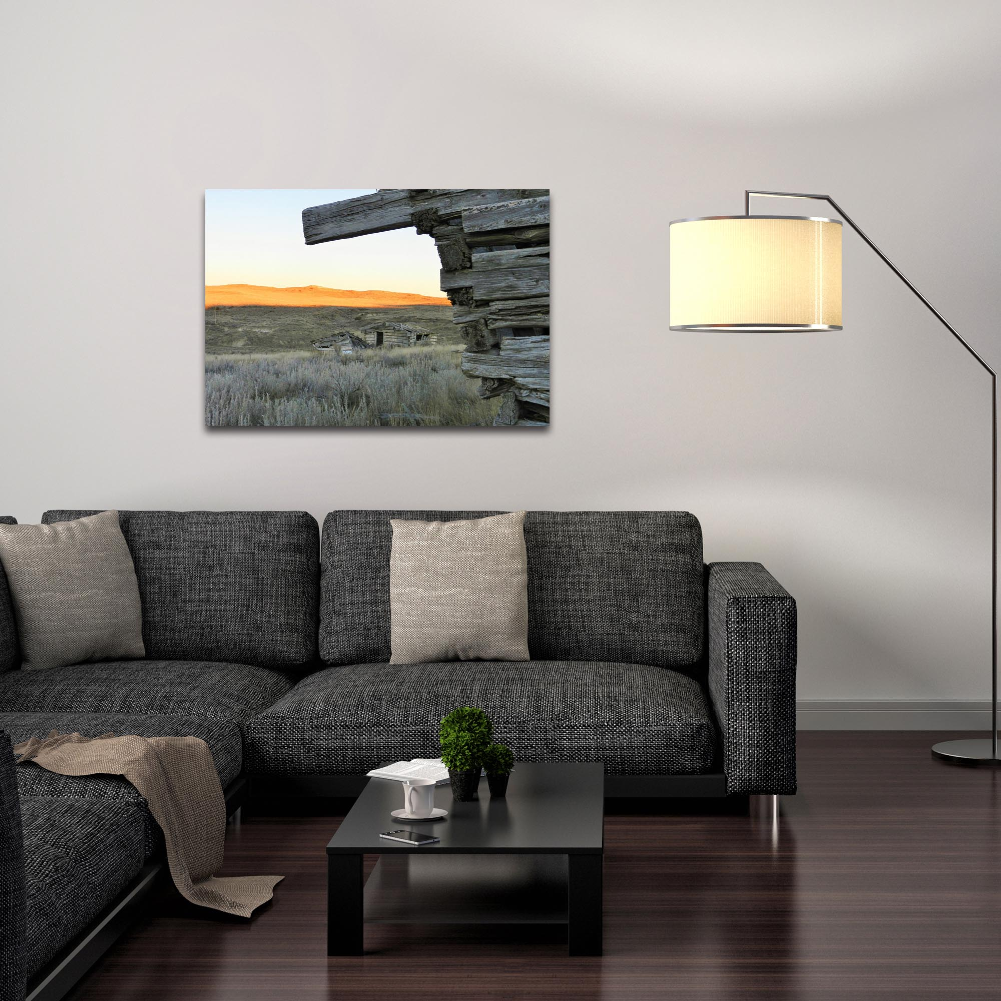 Western Wall Art 'The Corner' - American West Decor on Metal or Plexiglass - Lifestyle View