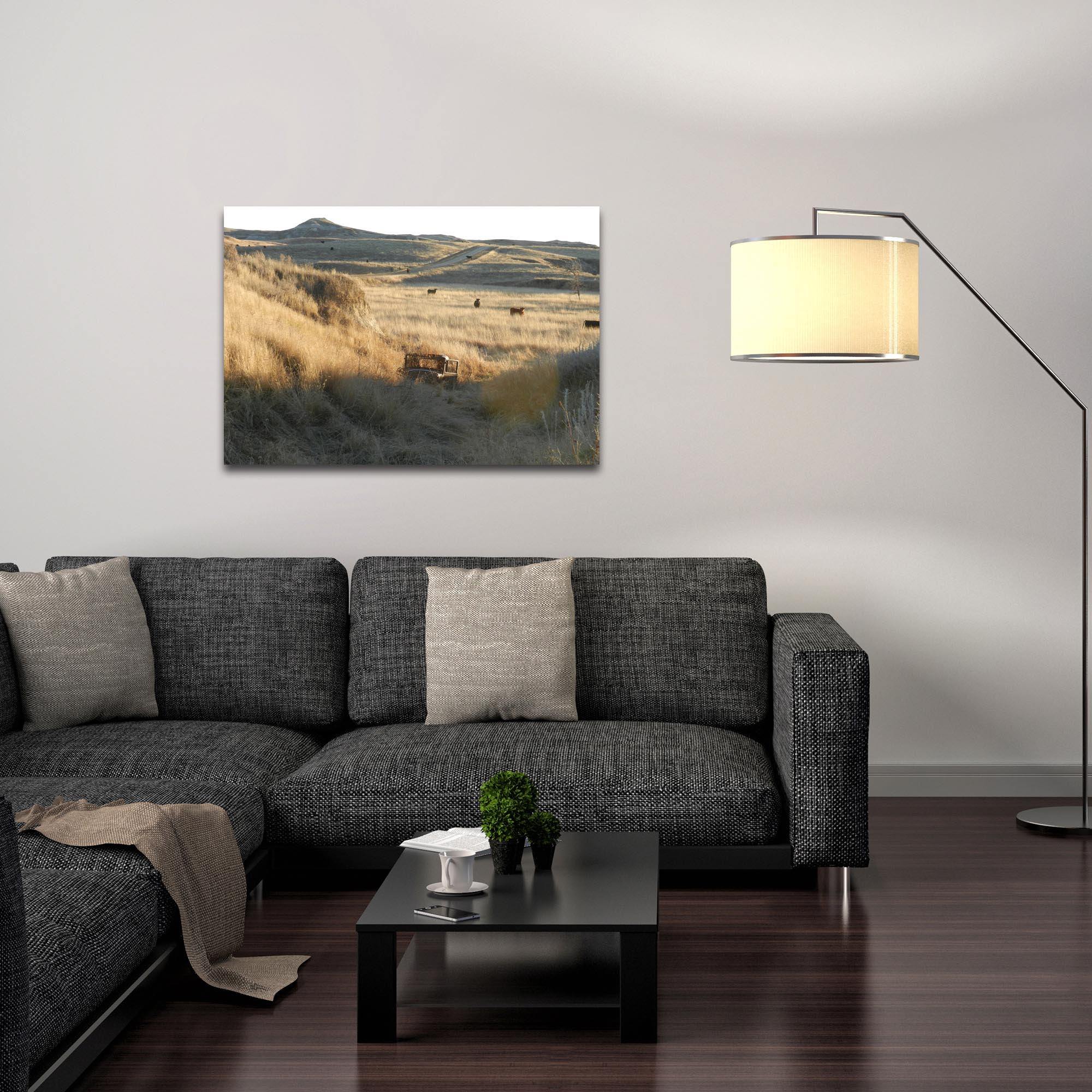 Western Wall Art 'Out West' - American West Decor on Metal or Plexiglass - Lifestyle View