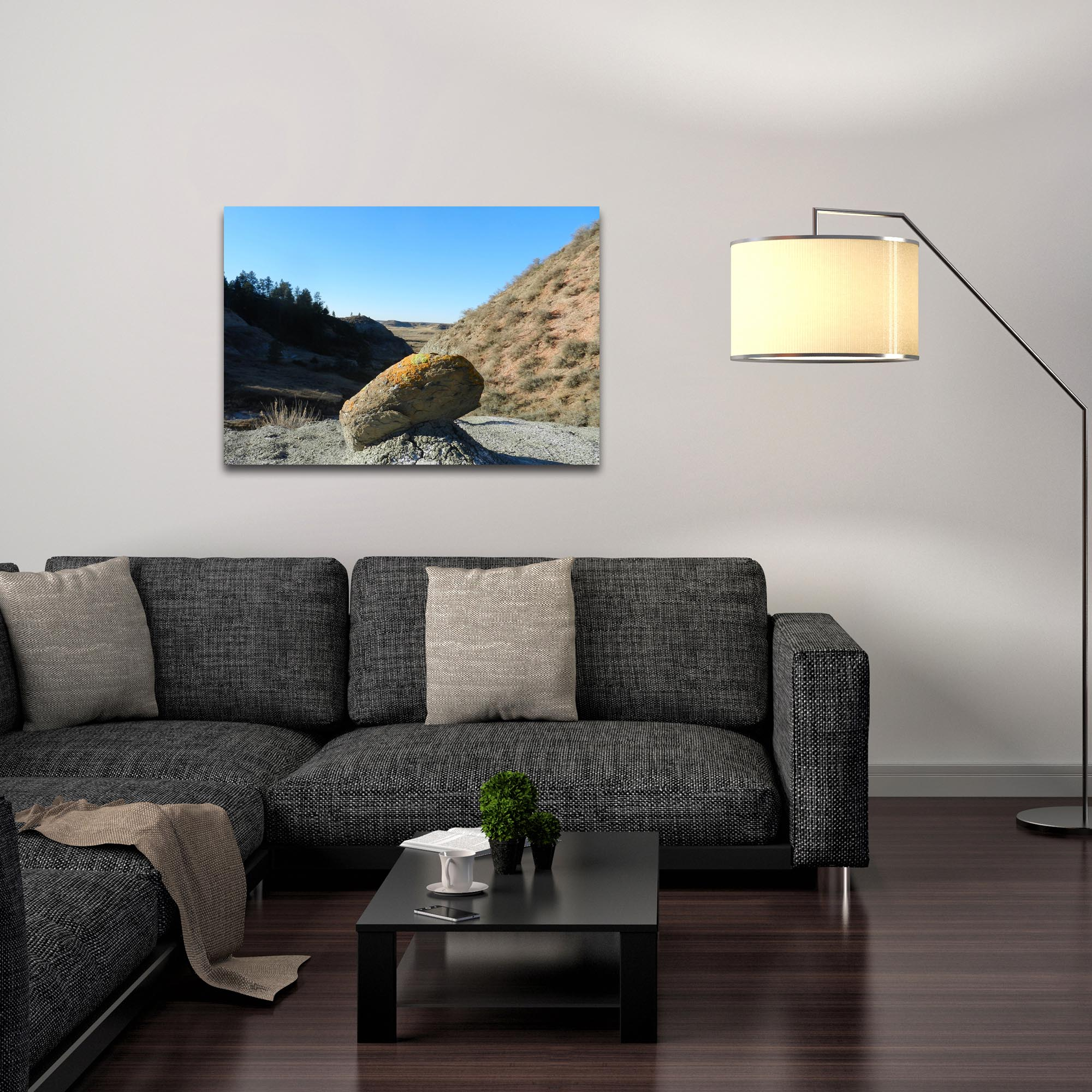 Western Wall Art 'The Rock' - American West Decor on Metal or Plexiglass - Lifestyle View