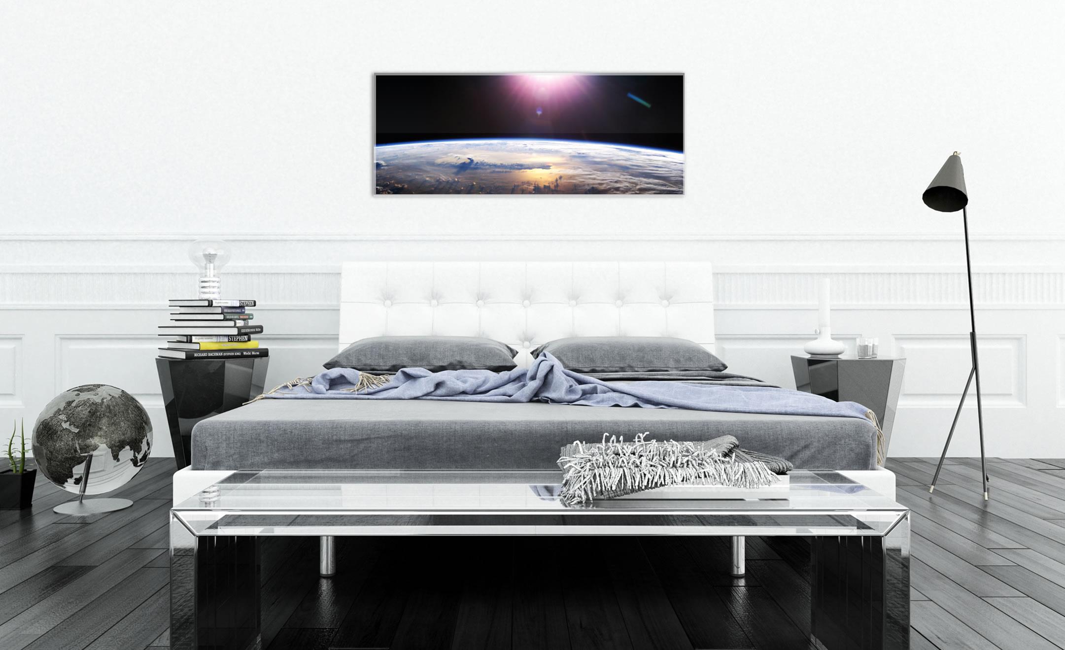Good Morning Earth - Reverse-Printed Acrylic Art - Lifestyle Image