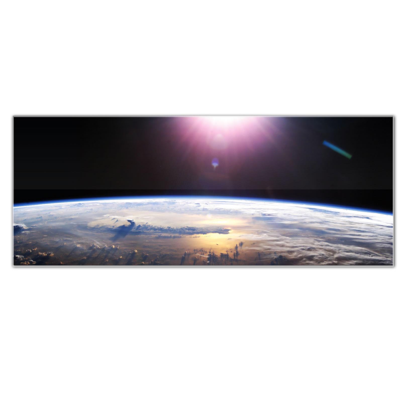 Good Morning Earth - Reverse-Printed Acrylic Art