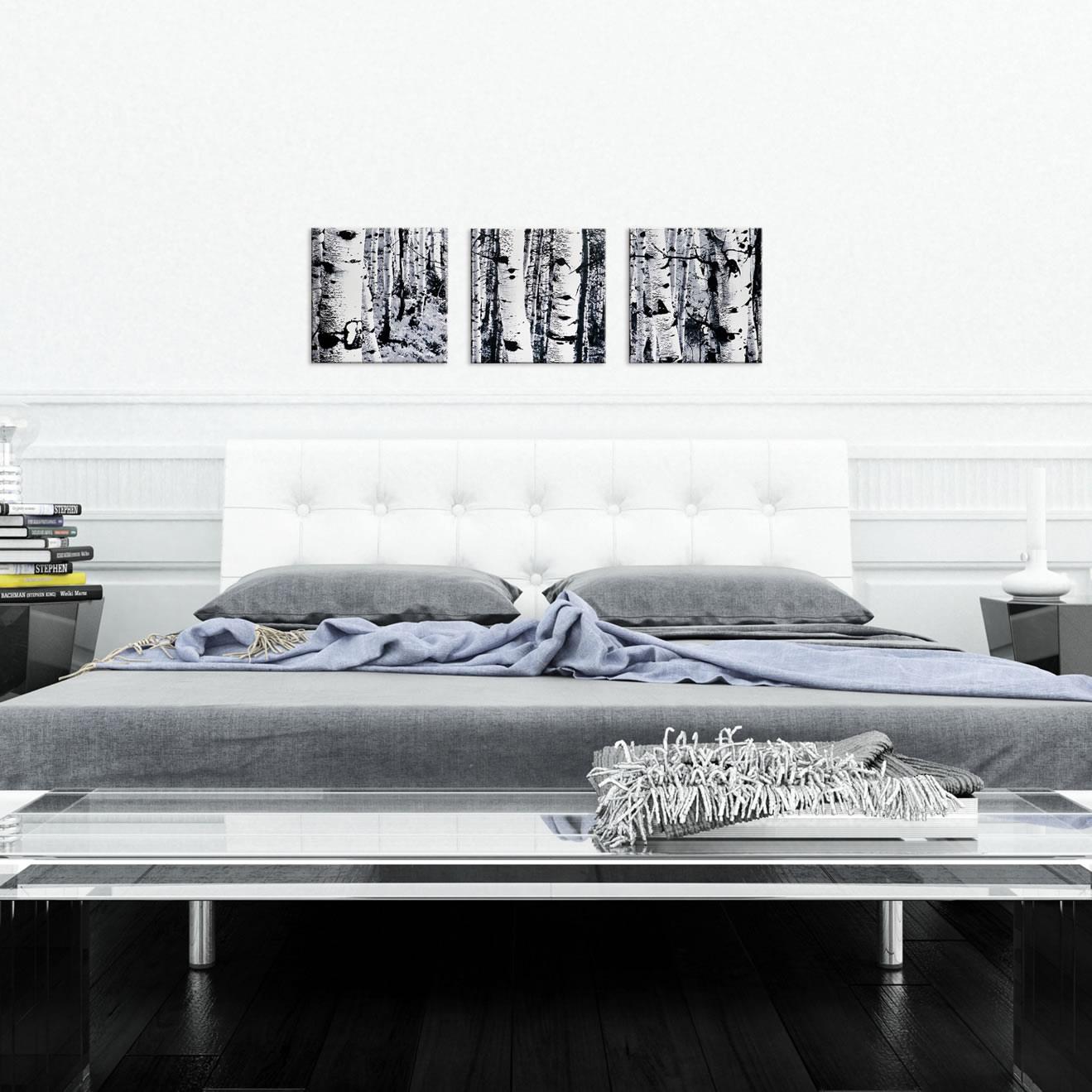 Aspen Triptych - Modern Metal Wall Art - Lifestyle Image