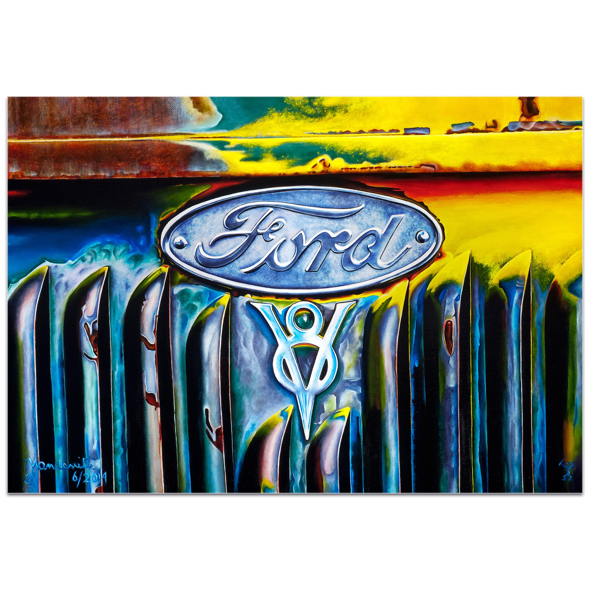 Americana Wall Art 'Forever Ford' - Classic Cars Decor on Metal or Plexiglass - Image 2