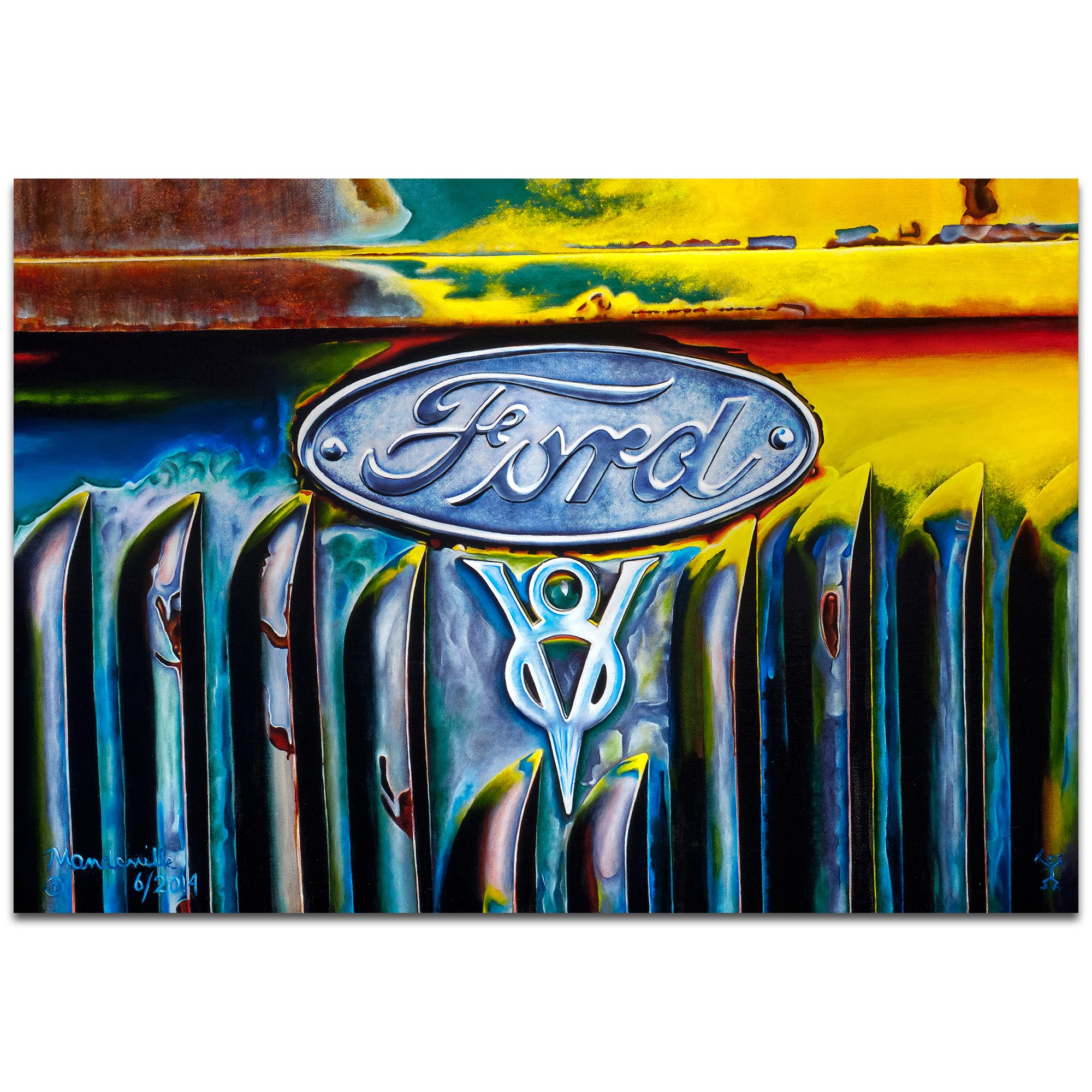 Americana Wall Art 'Forever Ford' - Classic Cars Decor on Metal or Plexiglass
