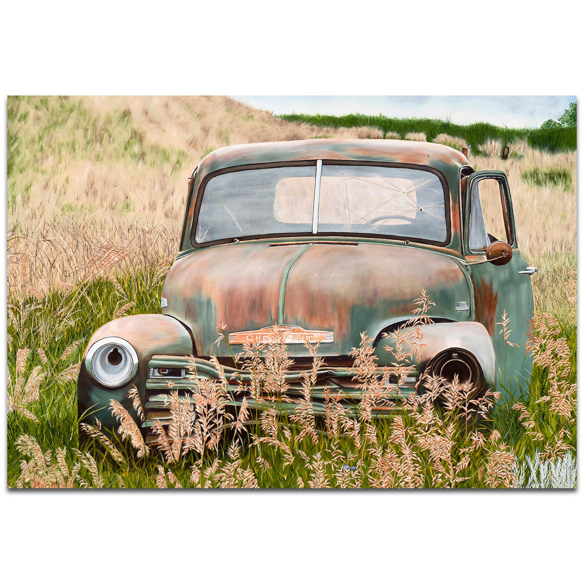 Americana Wall Art 'Franky's Truck' - Classic Trucks Decor on Metal or Plexiglass