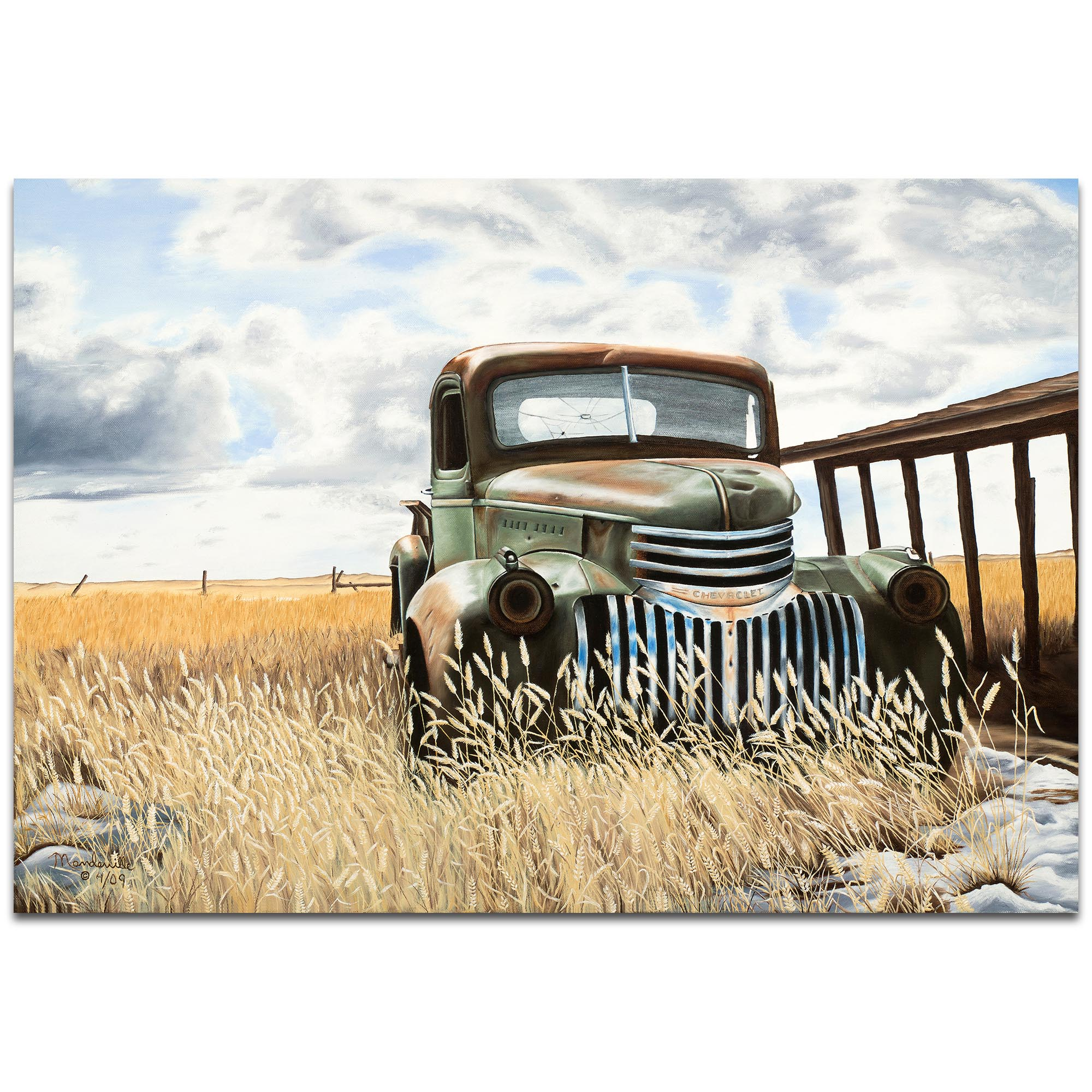 Americana Wall Art 'Swede's Old Truck' - Classic Trucks Decor on Metal or Plexiglass