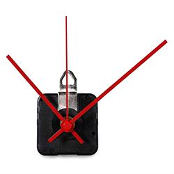 Replacement Clock Motor & Hands Set | Continuous-Sweep, High-Torque Mini Quartz Movement (Modern Style Hands)