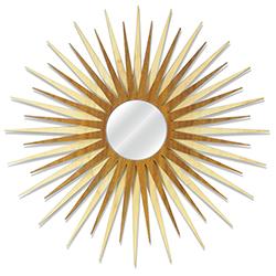 Midcentury Modern Decor MCM Starburst Mirror-Maple Mahogany - Maple/Mahogany Plywood Wooden Sunburst Mirror
