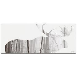 MOOSE LANDSCAPE - 48x19 in. Metal Animal Print