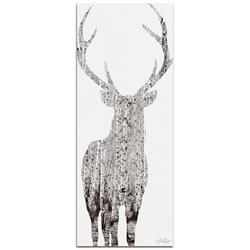 BIRCH DEER - 48x19 in. Metal Animal Print